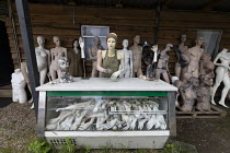 20-06-2019 - Dollywood mannequin recycling centre. The Finger bar. Fire damaged figures. Mannakin refurbishes the mannequins for hire and resale so they do not go to landfill as waste, nr Grantham. The centre has... © John Harris