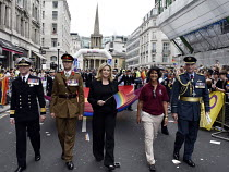 06-07-2019 - Pride in London 2019. Penny Mordaunt MP and UK Armed Forces on the parade through LondonPride in London 2019. Penny Mordaunt MP and UK Armed Forces on the parade through LondonPride in London 2019. Pe... © Stefano Cagnoni