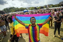 07-07-2019 - Nazir Uddin, a 22 asylum seeker asking for the government to protect his life. Muslim Asian, Bangladeshi proud gay man, disowned by family and under threat of deportation back to Bangladesh where he i... © Jess Hurd