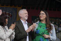 13-07-2019 - Jeremy Corbyn, Laura Pidcock MP 2019 Durham Miners Gala © Mark Pinder