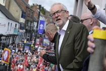 13-07-2019 - 2019 Durham Miners Gala, Jeremy Corbyn on the balcony of the County Hotel © Mark Pinder