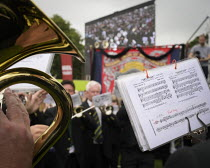 13-07-2019 - 2019 Durham Miners Gala, Brass band playing © Mark Pinder
