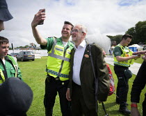13-07-2019 - Jeremy Corbyn selfie with a supporter, 2019 Durham Miners Gala © Mark Pinder