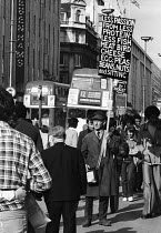 06-07-1982 - Stanley Green known as the Protein Man with his famous placard on Oxford Street London 1982. For 25 years, from 1968 until 1993, Green walked Oxford Street with a placard recommending Protein Wisdom,... © Stefano Cagnoni