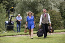 20-07-2019 - Guests arriving by helicopter, Lords Of The Manor Hotel, Upper Slaughter © John Harris