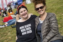 21-07-2019 - More Blacks, More Dogs, More Irish t-shirt, Tolpuddle Martyrs Festival, Dorset. © Jess Hurd
