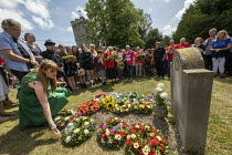 21-07-2019 - Angela Rayner MP laying a wreath at the grave of on the grave of James Hammett, Tolpuddle Martyrs Festival, Dorset. © Jess Hurd