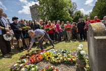 21-07-2019 - Mark Serwotka, PCS laying a wreath at the grave of on the grave of James Hammett, Tolpuddle Martyrs Festival, Dorset. © Jess Hurd
