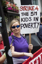 01-08-2019 - Protest against Universal Credit and holiday hunger, Unite Community National Day of Action against Poverty, St Pancras Church House foodbank, Trussell Trust, London. © Jess Hurd