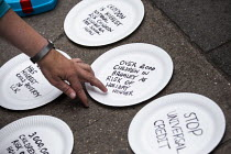 01-08-2019 - Protest against Universal Credit and holiday hunger, Unite Community National Day of Action against Poverty, DWP, Caxton House, London © Jess Hurd