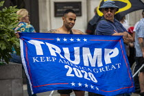 03-08-2019 - Trump supporters Free Tommy Robinson protest, BBC Portland Place, London © Jess Hurd