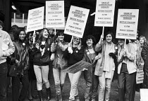 27-10-1983 - UCW workers lobby against the privatisation of British Telecom, London 1983 © NLA