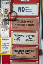 23-07-2019 - Detroit, Michigan, USA: 1930s Signs of Racial Segregation on sale, NAACP annual convention. No Colored. The National Association for the Advancement of Colored People is the oldest civil rights organi... © Jim West