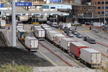 15-08-2019 - Lorries arriving at the Eastern Docks, Port of Dover, Kent. © Philip Wolmuth