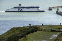 15-08-2019 - P&O cross channel ferry Spirit of Britain approaches the Eastern Docks, Port of Dover, Kent. © Philip Wolmuth
