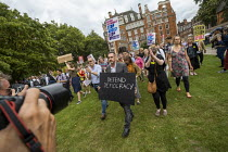 28-08-2019 - Paul Mason, Colleage Green, Defend democracy, resist the Parliament Shutdown protest as the Queen agrees to suspend Parliament at Boris Johnsons request, College Green, Westminster, London. © Jess Hurd