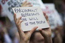 28-08-2019 - Defend democracy, resist the Parliament Shutdown protest as the Queen agrees to suspend Parliament at Boris Johnsons request, College Green, Westminster, London. © Jess Hurd