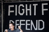 31-08-2019 - Owen Jones speaking Stop The Coup, defend democracy protest, Downing Street, Westminster, London. © Jess Hurd