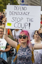 31-08-2019 - Stop The Coup, defend democracy protest, Downing Street, Westminster, London. © Jess Hurd