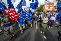 03-09-2019 - Stop The Coup protests for and against the government during the Brexit vote, Westminster, London. © Jess Hurd
