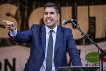 03-09-2019 - Richard Burgon MP speaking Stop Boris Johnson - General Election Now, People's Assembly Against Austerity protest, Parliament Square, Westminster, London © Jess Hurd