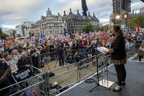 03-09-2019 - Laura Pidock MP speaking Stop Boris Johnson - General Election Now, People's Assembly Against Austerity protest, Parliament Square, Westminster, London. © Jess Hurd