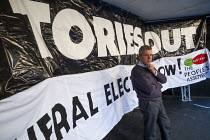 03-09-2019 - Mark Serwotka PCS speaking Stop Boris Johnson - General Election Now, People's Assembly Against Austerity protest, Parliament Square, Westminster, London. © Jess Hurd