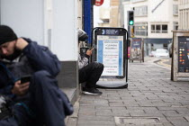 09-09-2019 - Uber Eats riders waiting for work, Brighton © John Harris
