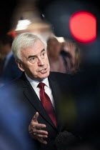23-09-2019 - TV media interviewing John McDonnell, Labour Party Conference, Brighton, 2019 © Jess Hurd