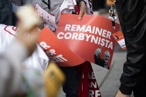 23-09-2019 - Remainer Corbynista posters Labour Party Conference, Brighton, 2019 © Jess Hurd