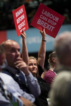 23-09-2019 - Pro remain posters, Labour Party Conference, Brighton, 2019 © Jess Hurd