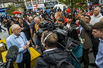 28-09-2019 - Big Canvass with Jeremy Corbyn and Faiza Shaheen, PPC, Chingford and Woodford Green, Iain Duncan Smith constituency. London. © Jess Hurd