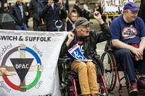 30-09-2019 - DPAC disabled protest against cuts, Conservative Party Conference, Manchester, 2019 © Jess Hurd