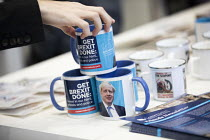 01-10-2019 - Boris Brexit mugs, Conservative Party Conference, Manchester, 2019 © Jess Hurd