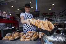 03-05-2017 - Freshly cooked doughnuts, doughnut stall, Torbay © Paul Box