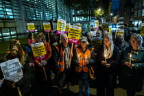 24-10-2019 - Vigil after 39 tragic migrant deaths, Home Office, London. End the hostile environment called by Stand up to Racism © Jess Hurd