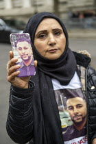 26-10-2019 - Justice for Mohammed Yassar Yaqub, parents joins annual United Families and Friends Campaign march against deaths in police custody, Whitehall, Westminster, London. © Jess Hurd