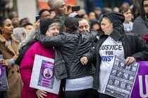 26-10-2019 - Justice for Winston Augustine, Annual United Families and Friends Campaign marching against deaths in police custody, Whitehall, Westminster, London. © Jess Hurd