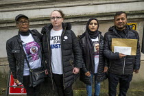 26-10-2019 - Annual United Families and Friends Campaign delivering a letter to Boris Johnson against deaths in police custody, Whitehall, Westminster, London. © Jess Hurd