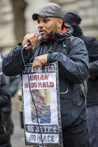 26-10-2019 - Justice for Adrian McDonald Annual United Families and Friends Campaign march against deaths in police custody, Whitehall, Westminster, London. © Jess Hurd