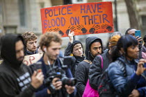 26-10-2019 - Annual United Families and Friends Campaign march against deaths in police custody, Whitehall, Westminster, London. © Jess Hurd