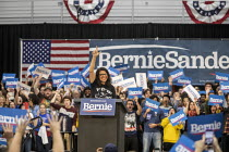 27-10-2019 - Detroit, USA: Rashida Tlaib speaking, Bernie Sanders Presidential campaign rally 2020 © Jim West