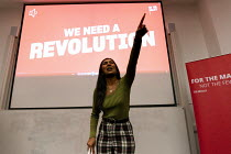 02-11-2019 - Ash Sarkar speaking Labour Party Election Campaign Rally Gloucester © John Harris