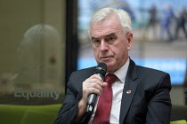 04-11-2019 - John McDonnell speaking Labour Party election meeting with NHS staff, Unison HQ, London © Philip Wolmuth