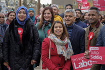 16-11-2019 - Sadiq Khan and Tulip Siddiq, Labour Party PPC for Hampstead and Kilburn, London Mayor Sadiq Khan and supporters gather for canvassing © Philip Wolmuth