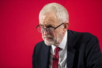 27-11-2019 - Jeremy Corbyn revealing the secret UK-US Trade & Investment Working Group report, previously redacted, detailing the proposed NHS sell off in and trade negotiations, Westminster election press confere... © Jess Hurd