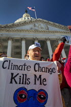 29-11-2019 - Washington DC, USA Fire Drill Friday protest for action on climate crisis, Capitol Building © Jim West