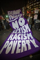 03-12-2019 - No Sexism, Racism, Poverty banner. No to Trump, No to NATO Protest London © Jess Hurd