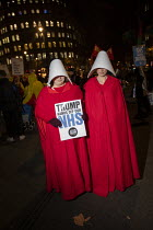 03-12-2019 - Protestorsd Dressed as women from Handmaid's Tale by Margaret Atwood, No to Trump, No to NATO Protest London © Jess Hurd