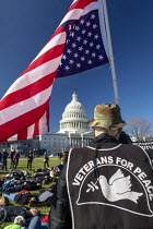 11-29-2019 - Washington DC USA. Veterans for Peace, Young activists staged a die in during a Funeral for Future on Capitol Hill. They demanded that government addresses the crisis of climate change. It was part of... © Jim West